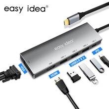 USB C Hub 3.0 Multi Splitter Type Adapter USB-C HDMI Multiple Port Expander for MacBook Pro PC Accessories