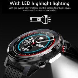 L15 Smart Watch Men LED Light Full-fit Round Retina Display Music Control Camera Flashlight Smartwatch IP68 Waterproof VS L8 L11