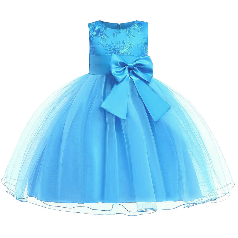 H23ad5a27cc894e02aae3dc33d47cea8cD Princess Flower Girl Dress Summer Tutu Wedding Birthday Party Dresses For Girls Children's Costume New Year kids clothes