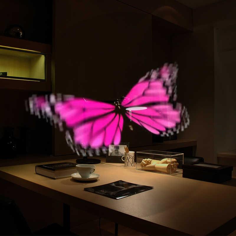 3D wifi голограмма проектор светильник рекламный дисплей светодиодный голографическая визуальная лампа дистанционный Светодиодный 3d дисплей рекламный логотип светильник