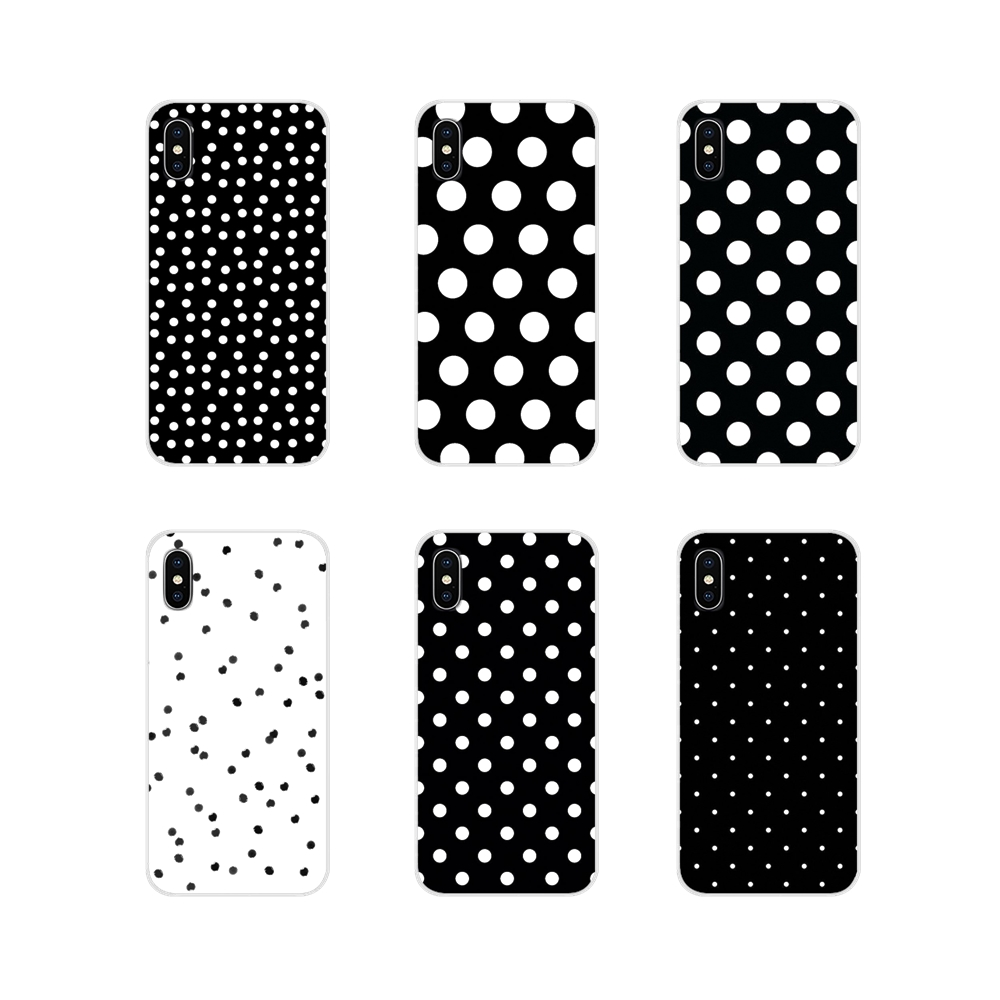Black And White Polka Dot Accessories Phone Shell Covers For Motorola Moto X4 E4 E5 G5 G5S G6 Z Z2 Z3 G G2 G3 C Play Plus