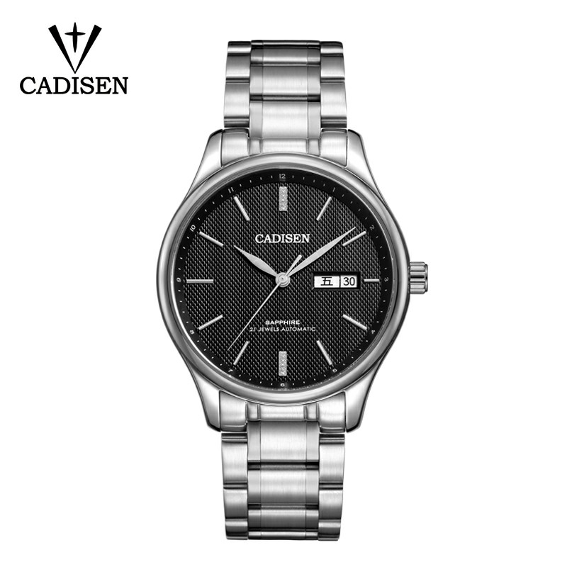 CADISEN Top Luxury Men's Mechanical Watches Leisure Sports Automatic Mechanical Watches Military Commerce 5ATM Calendar Week