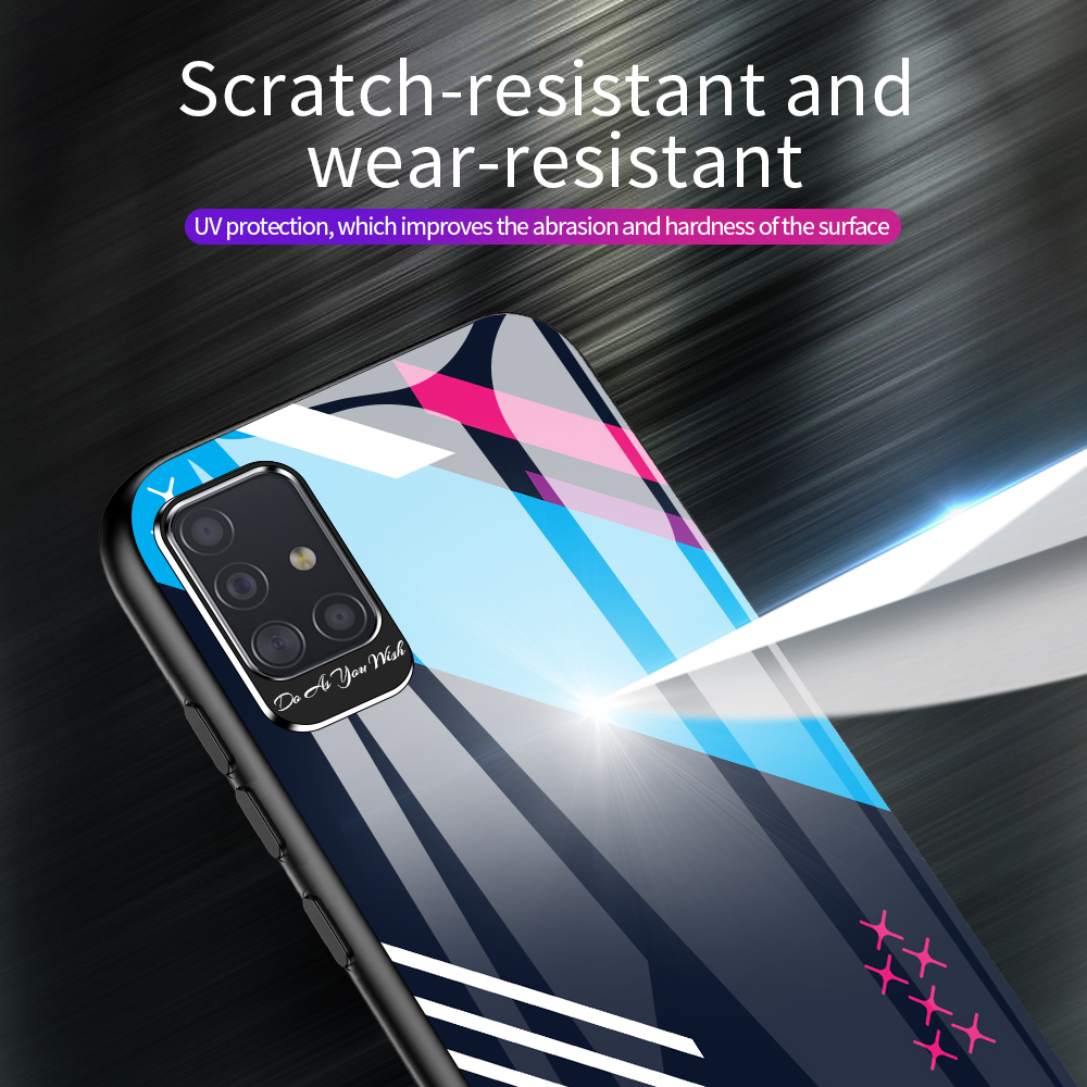 Metal Eye Protection Glass Case For Samsung Galaxy S20 Ultra S10 Plus E Note 10 Pro A51 A71 A70 A30S A50S A20 Back Cover Fundas
