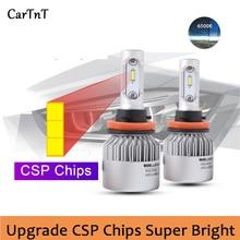 Lampe antibrouillard LED, CSP puce LED H7 H11 H1 H3 H4 9005 HB3 9006 HB4 9012, ampoules de phares LED 55W, 8000lm, 6500K
