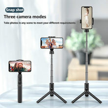 M12 Mobile phone stand tripod camera and wireless Bluetooth remote self-timer artifact live broadcast stable camera(China)