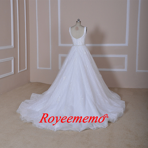 Image 5 - Vestido de Noiva special lace design wedding dress vest top design wedding gown wholesale price bridal dress factory directly
