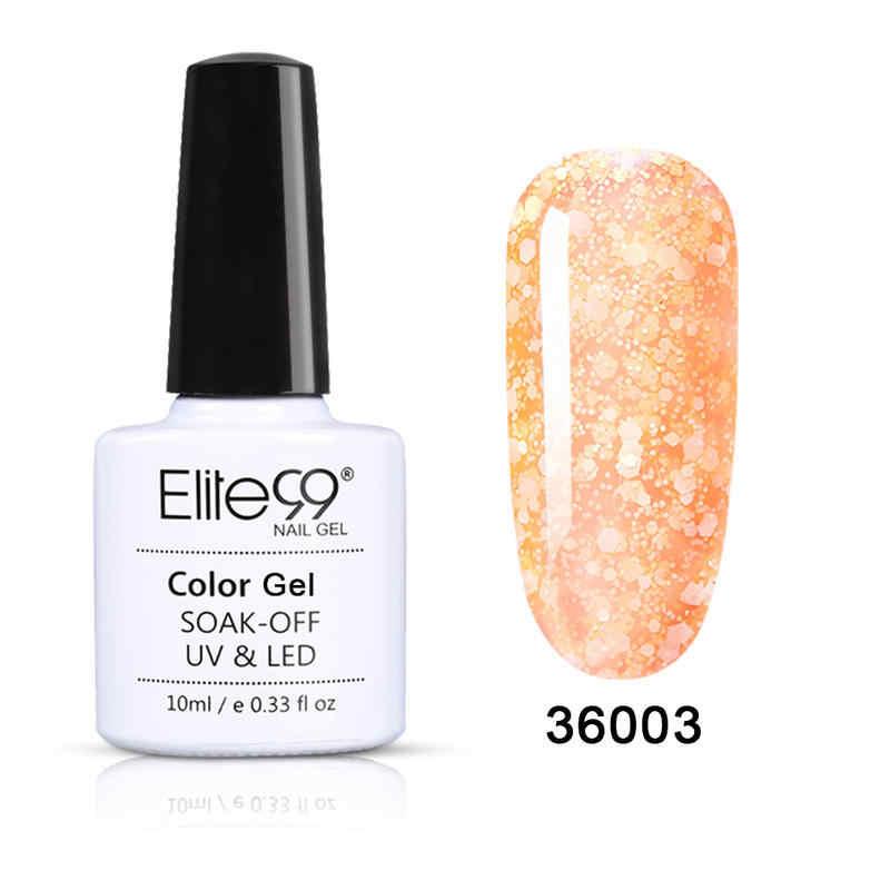 Elite99 10ml kar tanesi jel oje hibrid tırnak Glitter pul jel cila kapalı islatın UV LED üst taban kat astar Nail Art