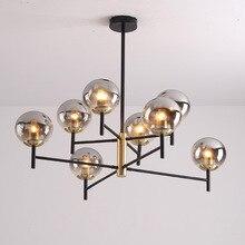 Lámpara de araña nórdica moderna, 4 luces LED Edison de 4 colores, 6 luces, candelabros, accesorios de iluminación para interiores, AC110 220V