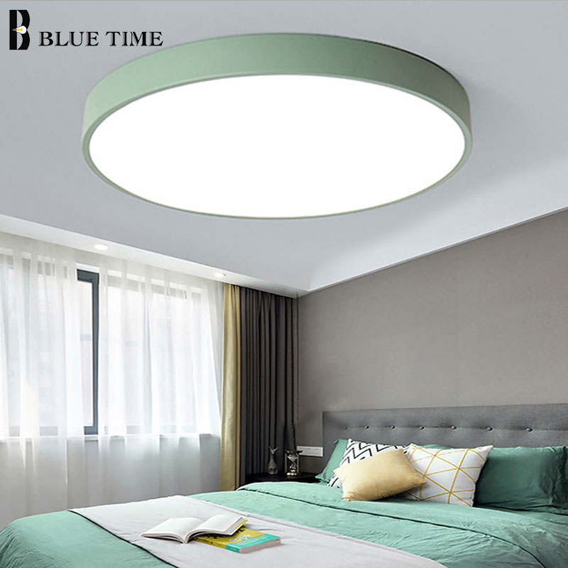Image 2 - Modern LED Chandelier For Living Room Bedroom Lustre Round Ceiling Chandelier Lighting Fixture Lampara Techo Black&White Lamps-in Chandeliers from Lights & Lighting