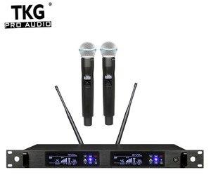 Image 1 - TKG, реальное разнообразие, 626 668 МГц, 780 822 МГц, стандартная двухканальная микрофонная система, беспроводной профессиональный микрофон