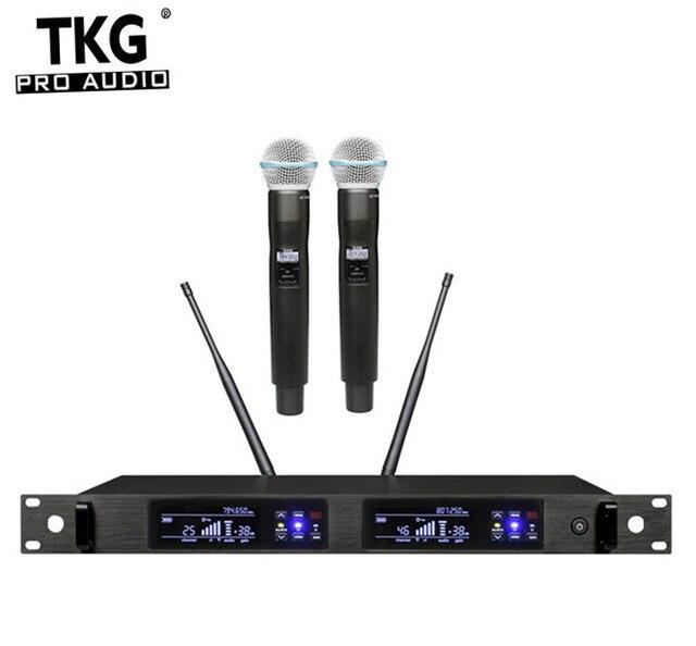 TKG, реальное разнообразие, 626 668 МГц, 780 822 МГц, стандартная двухканальная микрофонная система, беспроводной профессиональный микрофон