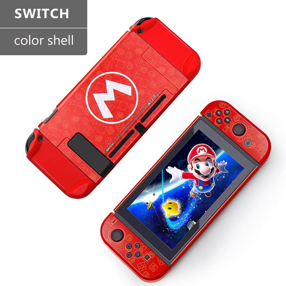 Red/Yellow Protective Housing HardShell Case Cover For Nintend Switch Game Case Console Protector For Switch Joycon Accessories