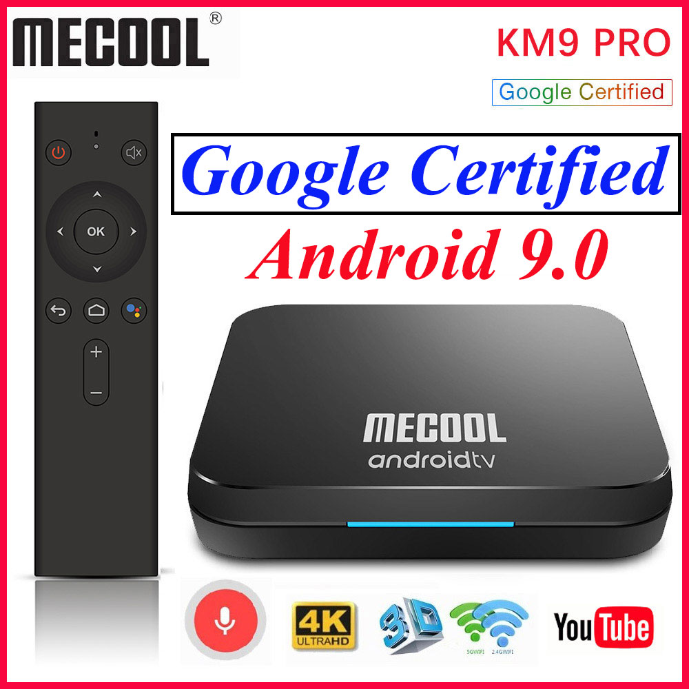 <font><b>MECOOL</b></font> <font><b>KM9</b></font> Pro Smart <font><b>tv</b></font> <font><b>Box</b></font> 2GB 16GB Google Certified Androidtv <font><b>Android</b></font> 9 9.0 <font><b>TV</b></font> <font><b>Box</b></font> 4K KM3 ATV 4GB 128GB Dual Wifi Media Player image