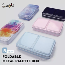 SeamiArt Half Pan Watercolor Tray Paints Tin Box Empty Palette Painting Storage Paint Tray Box for Painting Supplie