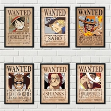 Posters Canvas Painting Wall-Sticker Nursery Home-Decor One-Piece Japanese Anime Kids Room