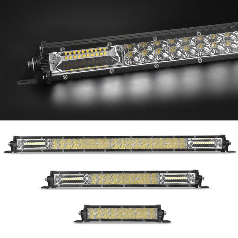 "LED Work Light 7"" 13"" 20"" 60W 120W 180W Dual Row Ultra Slim LED Light Bar For 4X4 ATV Off Road Work Lights Vehicle Car Accessory"