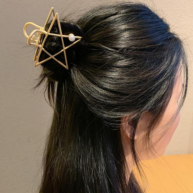2020 New Women Elegant Pearl Geometric Alloy Hair Claws Sweet Headband Hair Holder Clips Hairpins Fashion Hair Accessories