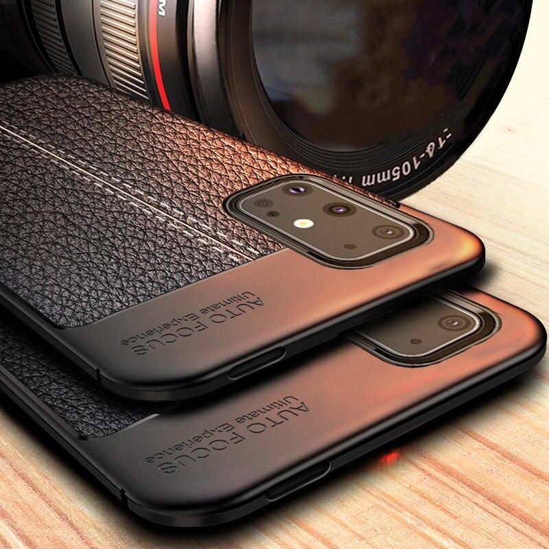 Чехол для Samsung Galaxy S20 S 20 Ultra, кожаный чехол, силиконовый бампер из ТПУ для Samsung Galaxy S20 Plus S20