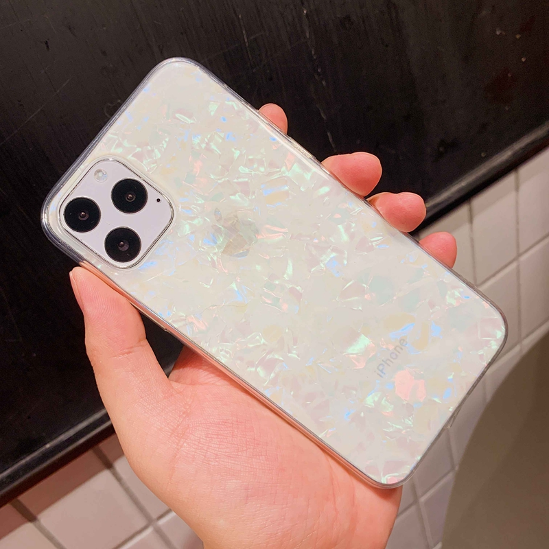 Sparkle and  Crystal Clear Phone Case For iPhone X XR XS 11 Pro Max 8 7 6 6s Plus with Glitter Shell Pattern 5