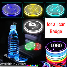 1pcs luzes led carro emblema copo coaster para land rover range rover lp executivo lm lg esporte ls lw vela evoque descoberta 1 2 3 4 5