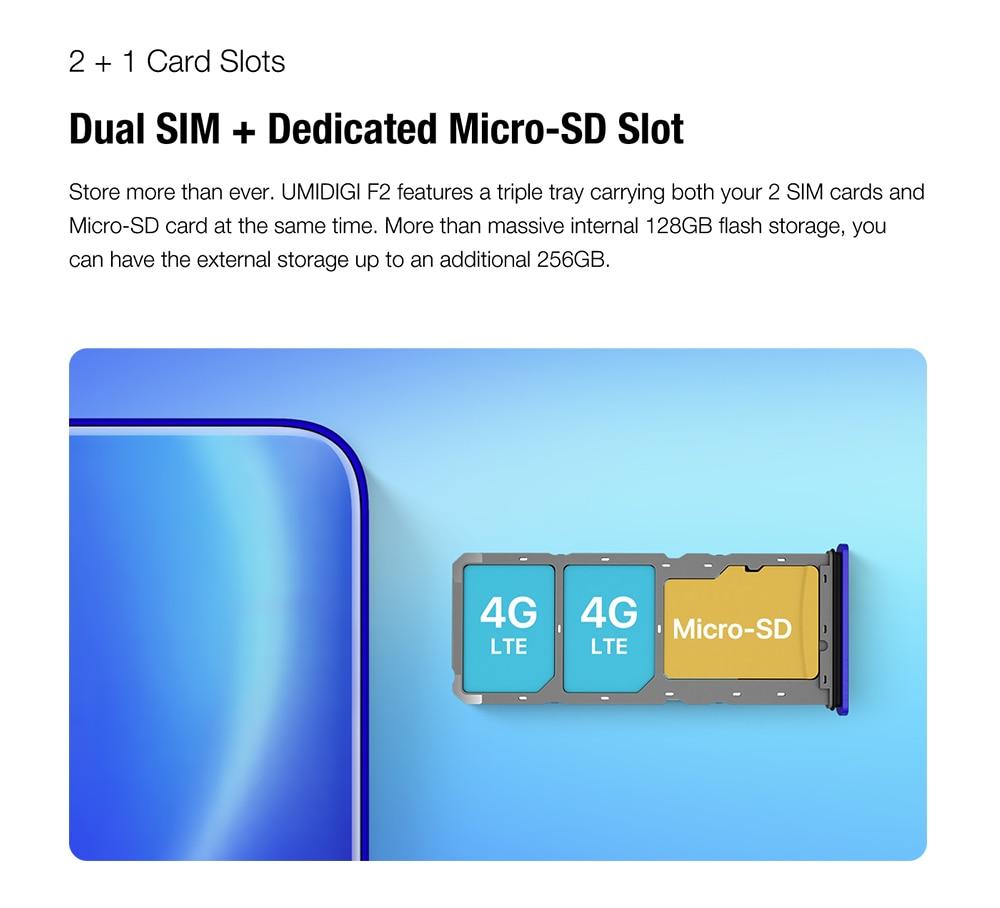"H23aeb09ac61c4eff8b5356b747da2755R Pre-sale UMIDIGI F2 Android 10 Global Version 6.53""FHD+6GB 128GB 48MP AI Quad Camera 32MP Selfie Helio P70 Cellphone 5150mAh NFC"