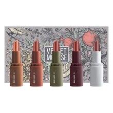 Hot style lipstick gift box lasting moisturizing non-marking matte velvet lip glaze cream 5 pens
