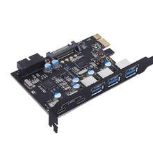 USB 3.0 carte Type A \u00283\u0029 Type C \u00282\u0029 PCI Express carte d'extension interne 19\u002820\u0029 broche 3.0 avec fresque FL1100 pour Mac Pro
