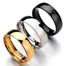 MixMax 100 יח\חבילה זהב שחור כסף צבע 2mm 4mm 6mm 8mm נירוסטה טבעות נישואים תכשיטים סיטונאי dropshipping