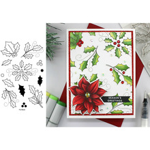 Christmas Popular Holly Floral Decoration Transparent Clear Stamps for DIY Scrapbooking Cards Crafts 2019 New