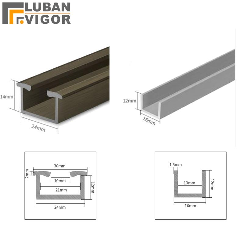 Customized products,Folding door Aluminium alloy lower / down rail,sliding door track/ rail/ chute