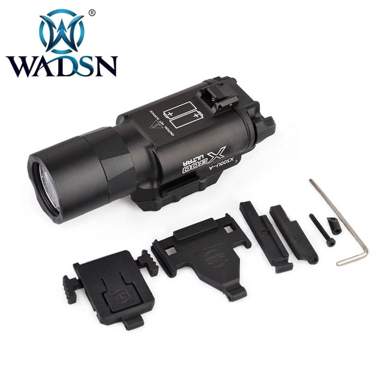 wadsn tatico x300 a prova dwaterproof agua arma luz pistola x300 rifle picatinny weaver montar para