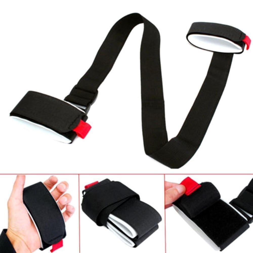 OUTAD Adjustable Skiing Pole Shoulder Carrier Lash Handle Straps Porter Hook Loop Protecting Black Nylon Ski Handle Strap Bags