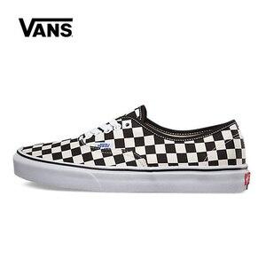 Оригинальные мужские и женские Кроссовки Vans, черные и белые кроссовки для скейтбординга, VN000W4NDI0