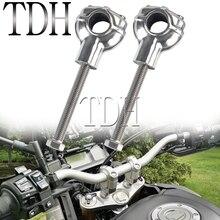 مقود دراجة نارية ، رفع المقود 1 بوصة 25 مللي متر ، شريط المشبك ، رافع لـ Harley Triumph Cafe Racer Yamaha BMW Chopper Bobber