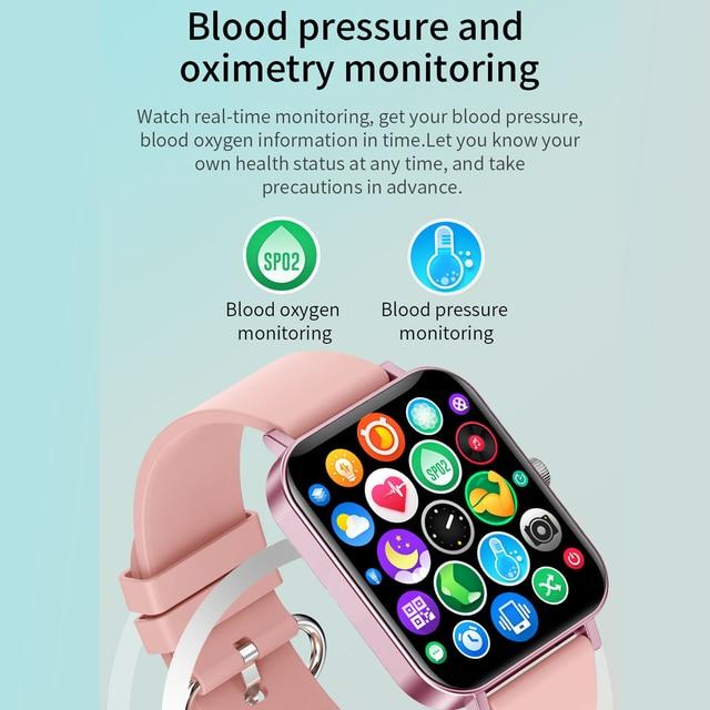 New CF82 Smart Watch Fitness Tracker 1.69 inch big screen IP67 Waterproof 2021 Sport Smartwatch women for Android IOS 3