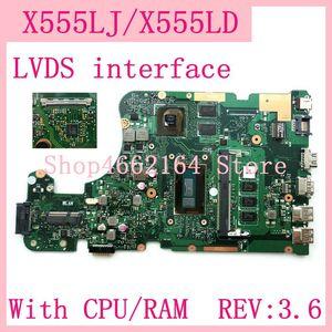 X555LJ LVDS интерфейс 4G RAM REV: 3,6 GT920M/2G материнская плата для ASUS X555L A555L K555L F555L W519L X555LD X555LJ материнская плата для ноутбука