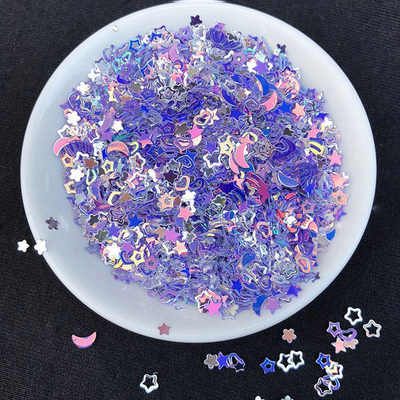 Mix Star Sequin Shell Confetti Sprinkles Heart Glitter Fake Toppings Filling Blingbling Micro Star Jewelry Making Supplies Resin