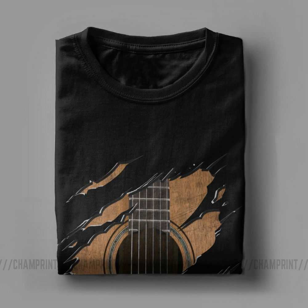 Men's T Shirts RIP Guitar Vintage Short Sleeve Music Razorback Tees Crew Neck Clothing Cotton Graphic T-Shirt Plus Size Tops