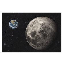 Terre Lune affiche planètes Lune soie imprime maison chambre décor scientifique espace extérieur mur Art photo pour salon