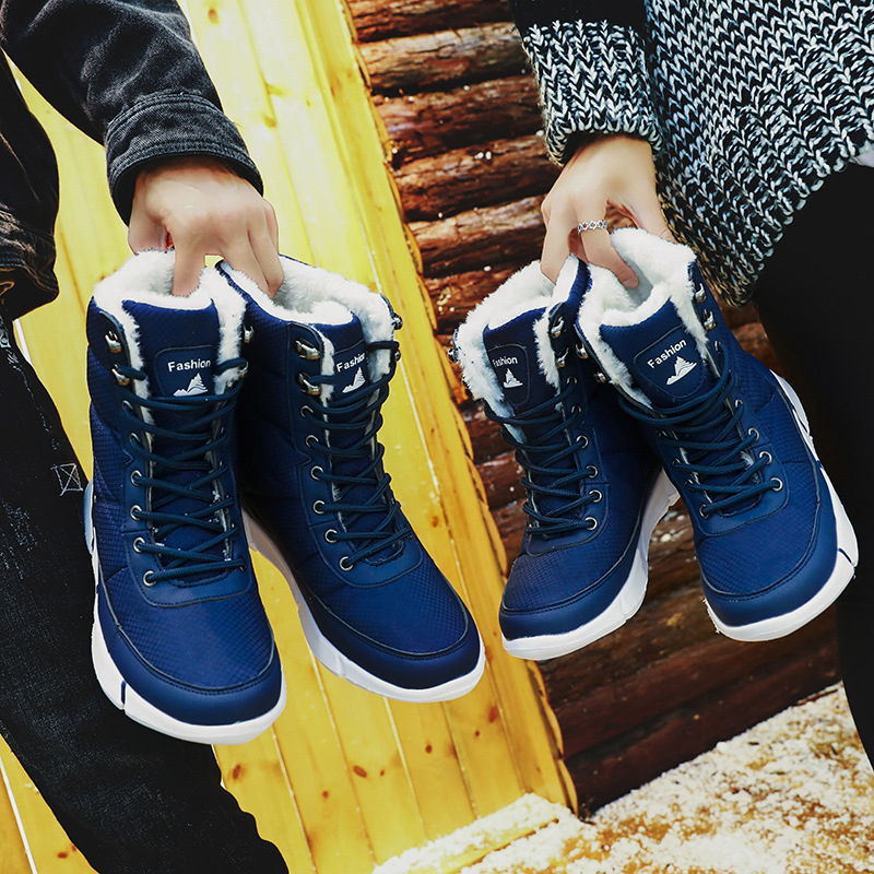 Image 5 - Women Boots 2019 Winter Shoes Woman Snow Boots With Plush Inside Shoes winter Waterproof Plus Winter Boots Rubber Female Booties-in Ankle Boots from Shoes