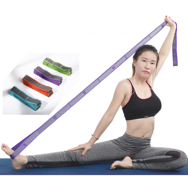 9 Lattice Yoga Stretch Belt Elastic Bands For Fitness Mini Band Fitness Band Adult Training Band Dance Unisex Beginner Equipment image