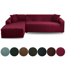 1 2pcs elastic sofa covers for living room l shape sectional slipcovers strench armchair couch covers 1 2 3 4 seater funda cover L Shape Classic Sofa Covers Elastic Slipcovers Sofa Cover For Living Room Bedroom Home Decor Couch Cover 1/2/3/4 seater