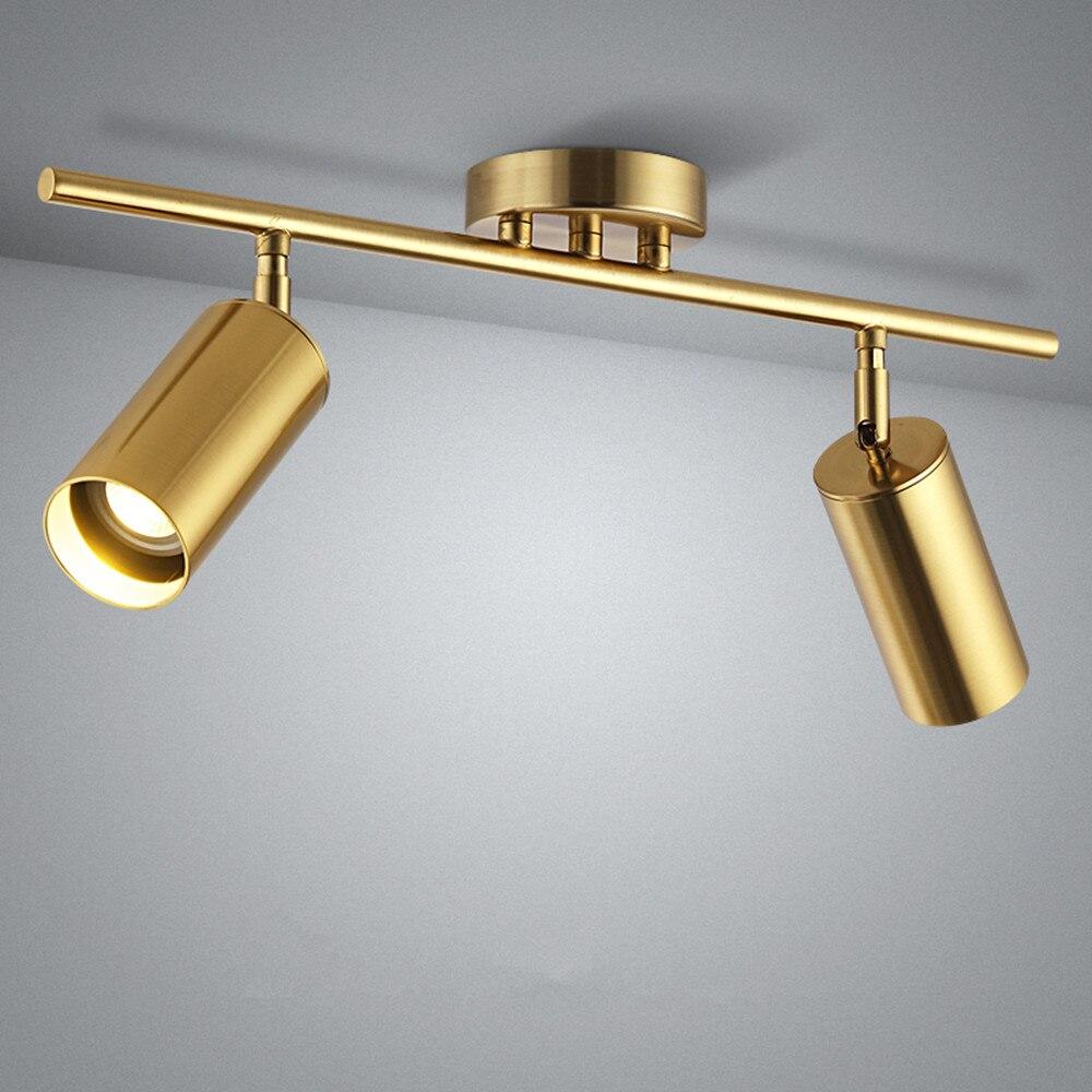 Refletor de teto angular ajustável com lâmpada GU10 Refletor de teto nórdico para refletor de corredor de cozinha Montado em superfície AC220V