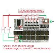 Circuit de Protection de Charge de batterie au Lithium, BMS 4s 14.4V 100a 18650 Li-ion LiFePO4 LiFe LMO, Module d'équilibre de Charge PCB