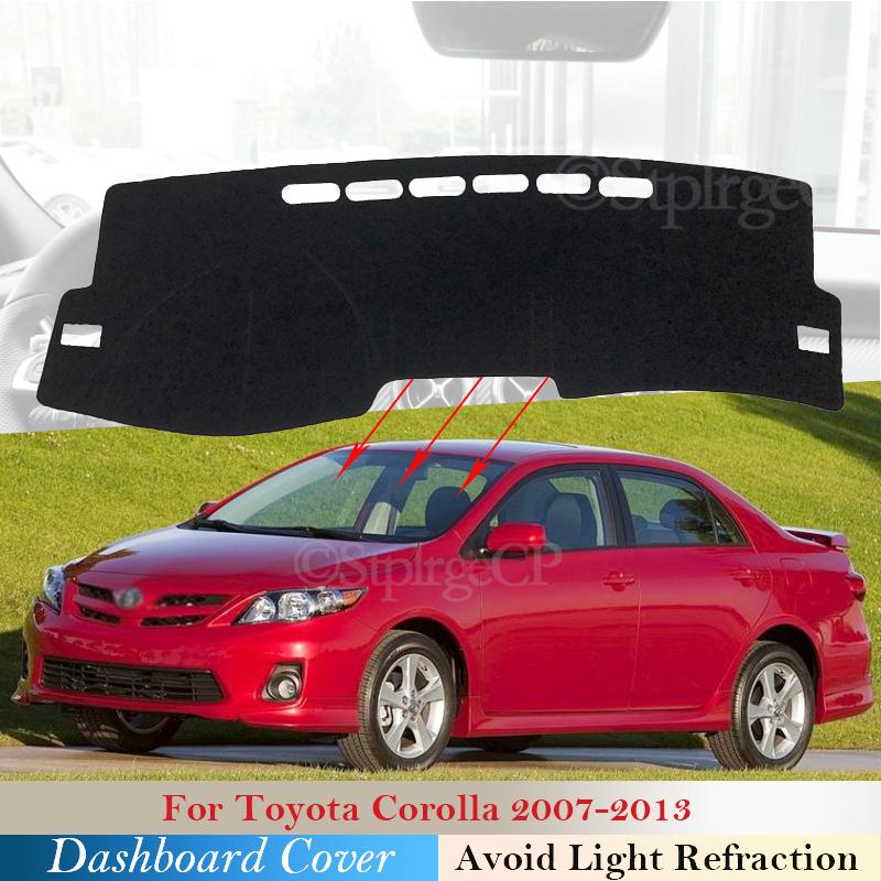 Car Dash Mat Non-Slip Sun Cover WIth Red rim Pad For Toyota Corolla 2007-2013