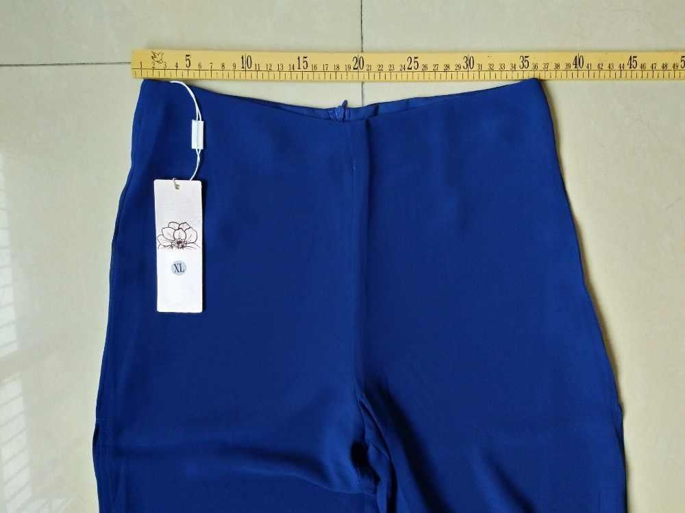 Estate Nuovi Pantaloni Gamba Larga A Doppio Strato di Chiffon Pieno Lunghezza Pantalon Femme di Dividere La Forcella Slaccia Più 5XL Pant CJ035
