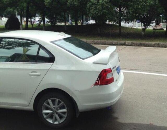 For  Rapid Spoiler 2008-2013 Skoda Rapid Spoiler DKRS ABS plastic Material Car Rear Wing Color Rear Spoiler