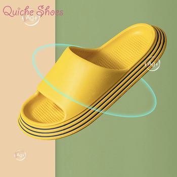Summer Slippers Shower Sandal EVA Massage Drainage Holes Non-Slip Light Bathroom Indoor Women Men Flip Flops Pool Shoes Slide image