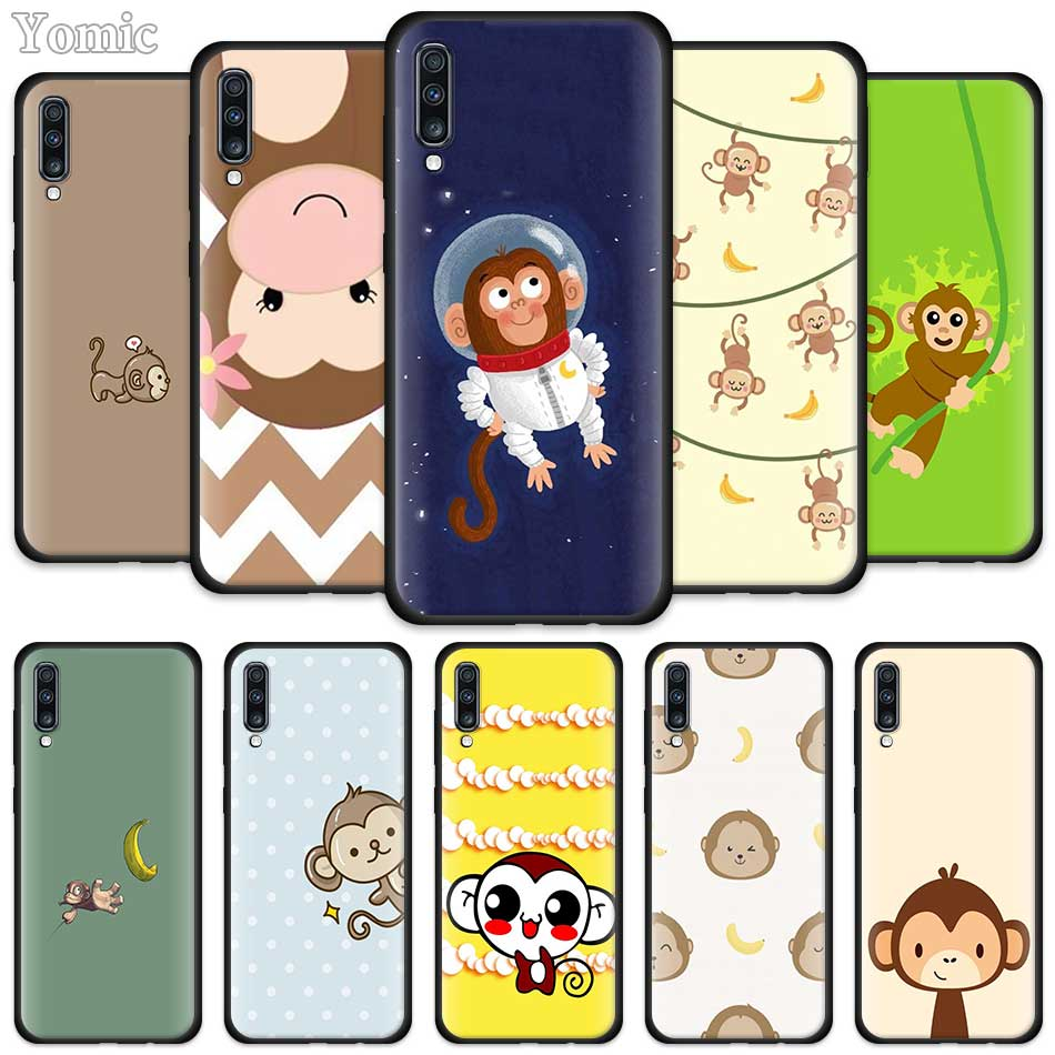 Amazing Monkey Cartoon Cases For Samsung Galaxy A50 A51 A40 A70 A71 A20 A30 S A20e A80 A Quantum Black Silicone Phone Cover