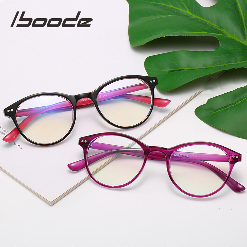 Iboode Retro Round Myopia Glasses Men Women Optical Eyeglasses With Diopter 0 -0.5 1.0 1.5 2.0 2.5 3.0 3.5 4.0 4.5 5.0 5.5 6.0